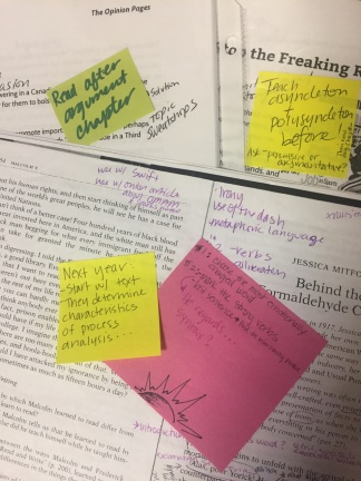 Post it reminders on texts